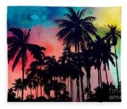 Tropical Colors Fleece Blanket