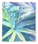 Tropical Dreams In Pastel Purple-blue Fleece Blanket
