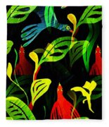 Tropical Flock Fleece Blanket