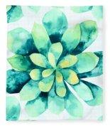 Tropical Flower  Fleece Blanket