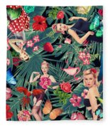 Tropical Fun Sexy  Fleece Blanket