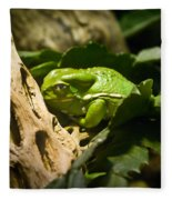 Tropical Green Frog Fleece Blanket