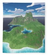 Tropical Island Fleece Blanket