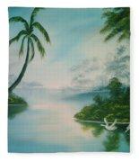 Tropical Lagoon Fleece Blanket
