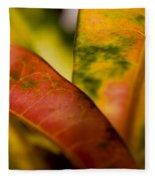 Tropical Leaf Abstract Fleece Blanket