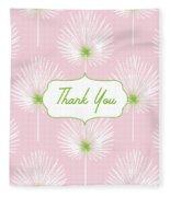 Tropical Leaf Thank You- Art By Linda Woods Fleece Blanket