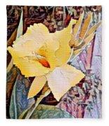 Tropical Lilly Fleece Blanket