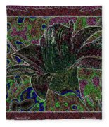 Tropical Lily 3 Fleece Blanket