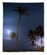 Tropical Moon Fleece Blanket