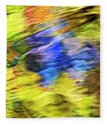 Tropical Mosaic Abstract Art Fleece Blanket