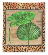 Tropical Palms 1 Fleece Blanket