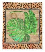 Tropical Palms 2 Fleece Blanket