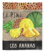 Tropical Palms 5 Fleece Blanket