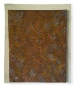 Tropical Palms Canvas Copper Silver Gold - 16x20 Hand Painted Fleece Blanket