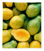 Tropical Papayas Fleece Blanket