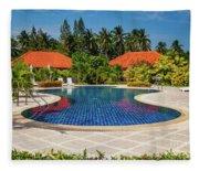 Tropical Paradise Fleece Blanket