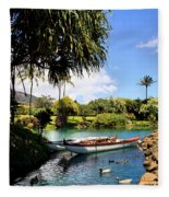 Tropical Plantation - Maui Fleece Blanket