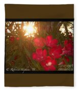 Tropical Red Fleece Blanket