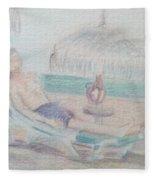 Tropical Repose Fleece Blanket
