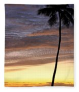 Tropical Silhouette Fleece Blanket