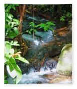 Tropical Stream Fleece Blanket