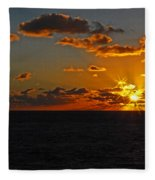 Tropical Sunset Fleece Blanket