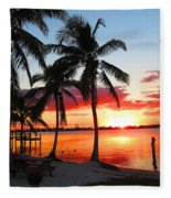 Tropical Sunset Fleece Blanket