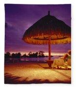 Tropical Tahitian View Fleece Blanket