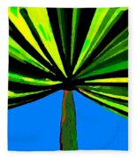 Tropical Tree Fleece Blanket