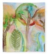 Tropical Trees Fleece Blanket