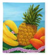 Tropical Trinity Fleece Blanket
