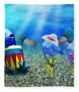 Tropical Vacation Under The Sea Fleece Blanket