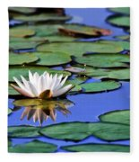 Tropical Water Lily Fleece Blanket