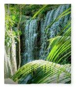 Tropical Waterfall Fleece Blanket