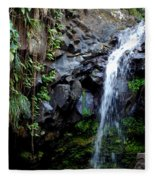 Tropical Waterfall Fleece Blanket