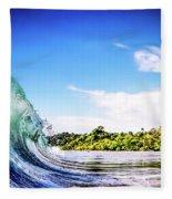 Tropical Wave Fleece Blanket