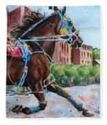 trotter standardbred Horse at the Little Brown Jug Fleece Blanket