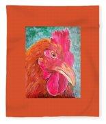 Troubles Portrait Chicken Art Fleece Blanket