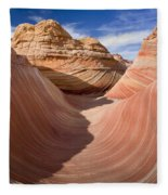 Trough Of The Wave Fleece Blanket
