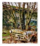 Truck N Tree Fleece Blanket