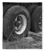 Truck Tires Fleece Blanket