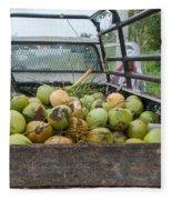 Truckload Of Coconuts Fleece Blanket