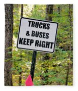 Trucks And Buses Keep Right Fleece Blanket