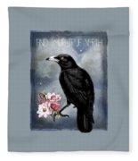 True North Crow And Magnolias Fleece Blanket