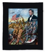 True Sons Of Freedom -- Ww1 Propaganda Fleece Blanket
