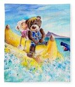 Truffle Mcfurry And Mary The Scottish Sheep Riding The Banana Fleece Blanket