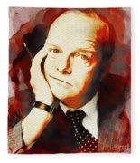 Truman Capote, Literary Legend Fleece Blanket