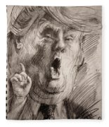 Trump A Dengerous A-hole Fleece Blanket
