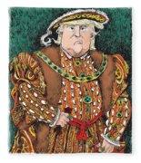 Trump As King Henry Viii Fleece Blanket