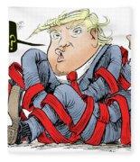 Trump Chaos Fleece Blanket